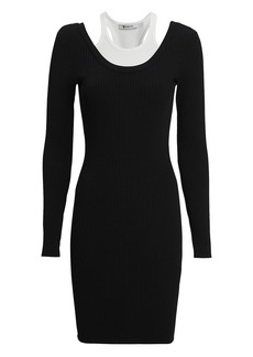 T by Alexander Wang Bi-Layer Mini Dress