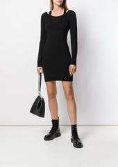 T by Alexander Wang bi-layer mini dress