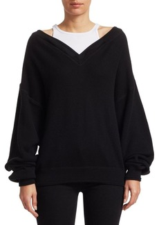 T by Alexander Wang Bi-Layer Tank & Sweatshirt Combo