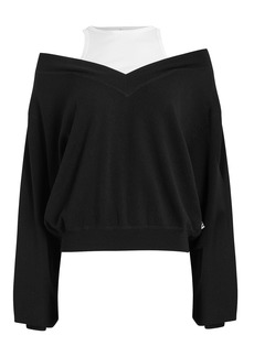 T by Alexander Wang Bi-Layer Wool Sweater