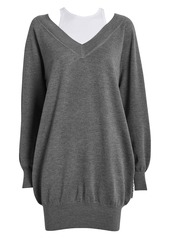 T by Alexander Wang Bi-Layer Wool Sweater Dress