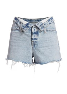 T by Alexander Wang Bite Flip High-Rise Denim Shorts