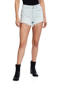 T by Alexander Wang Bite High-Rise Cutoff Shorts