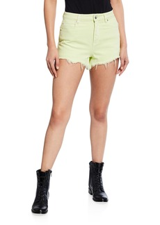 T by Alexander Wang Bite High-Rise Frayed Shorts