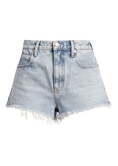 T by Alexander Wang Bite Zip Denim Shorts