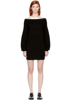 T by Alexander Wang Black & Off-White Bi-Layer Dress