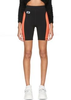 T by Alexander Wang Black & Orange Jersey Biker Shorts