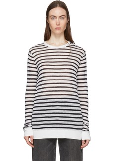T by Alexander Wang Black & White Striped T-Shirt