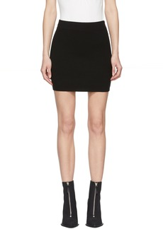 T by Alexander Wang Black Bodycon Basics Pencil Miniskirt