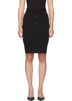 T by Alexander Wang Black Bodycon Double Layer Skirt
