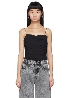 T by Alexander Wang Black Compact Jersey Bodysuit