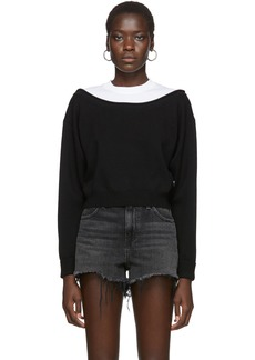 T by Alexander Wang Black Cropped Bi-Layer Sweater