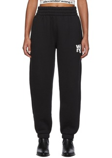 T by Alexander Wang Black Dense Fleece Lounge Pants