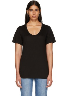 T by Alexander Wang Black Drapey T-Shirt
