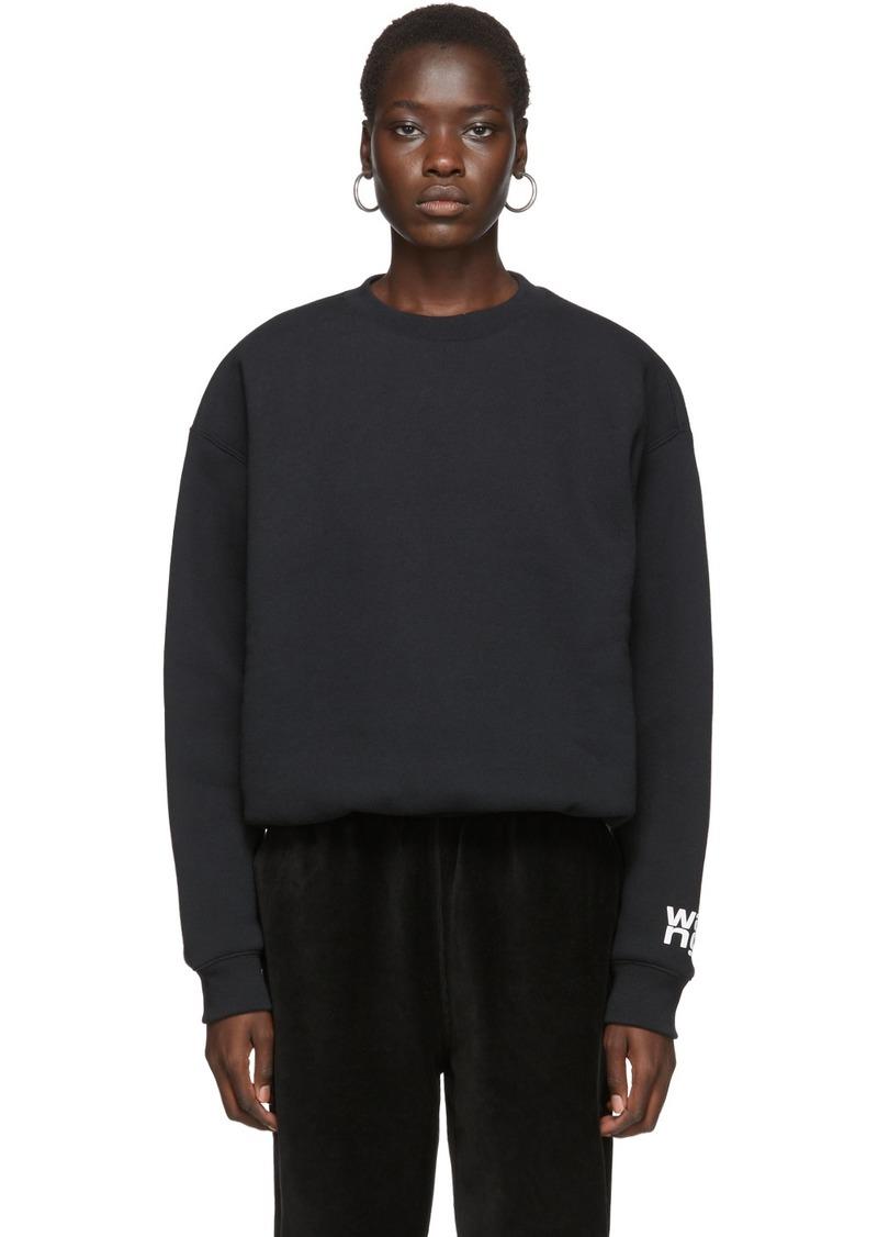T by Alexander Wang Black Fleece Bubble Sweatshirt