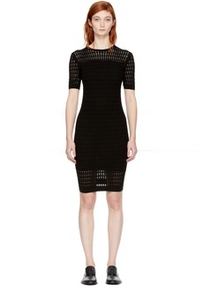 T by Alexander Wang Black Float Stitch Dress