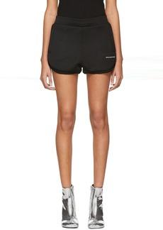 T by Alexander Wang Black Heavy Sleek Track Shorts
