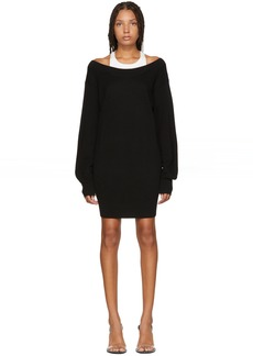T by Alexander Wang Black Inner Tank Knit Dress