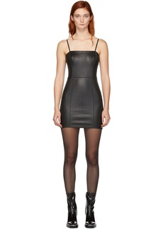 T by Alexander Wang Black Leather Cami Dress