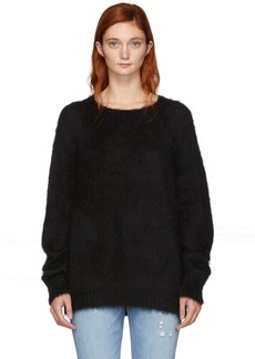 T by Alexander Wang Black Mohair Solid Pullover