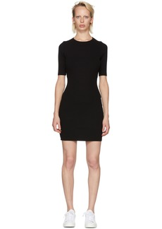 T by Alexander Wang Black Rib Logo Dress