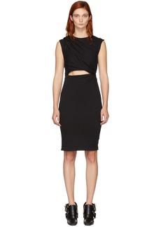 T by Alexander Wang Black Shoulder Twist Mini Dress