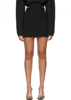 T by Alexander Wang Black Stretch Suiting Miniskirt