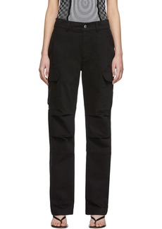 T by Alexander Wang Black Twill Cargo Trousers