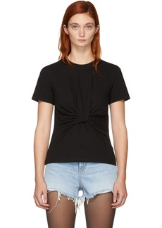 T by Alexander Wang Black Twist Front T-Shirt
