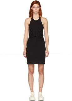 T by Alexander Wang Black Twist Halter Mini Dress