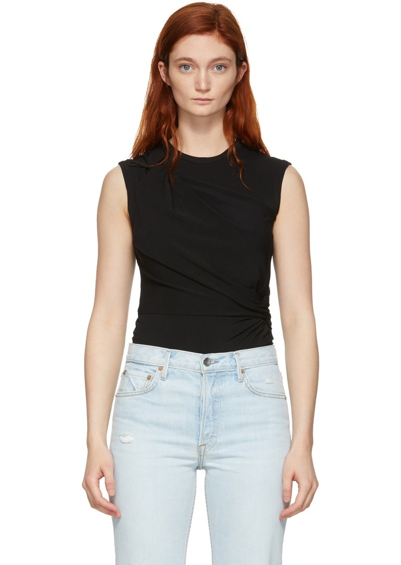 T by Alexander Wang Black Twisted Top