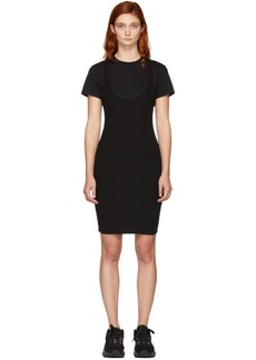 T by Alexander Wang Black Variegated Combo Dress