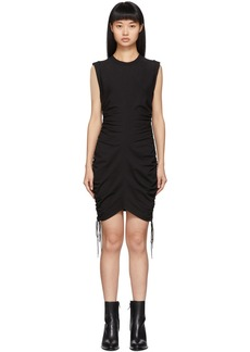 T by Alexander Wang Black Wash + Go Side Tie Dress