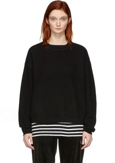 T by Alexander Wang Black Wool Pullover