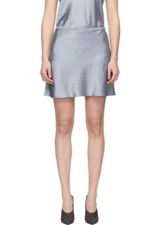 T by Alexander Wang Blue 'Wash & Go' Miniskirt