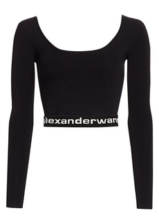 T by Alexander Wang Bodycon Crop Pullover