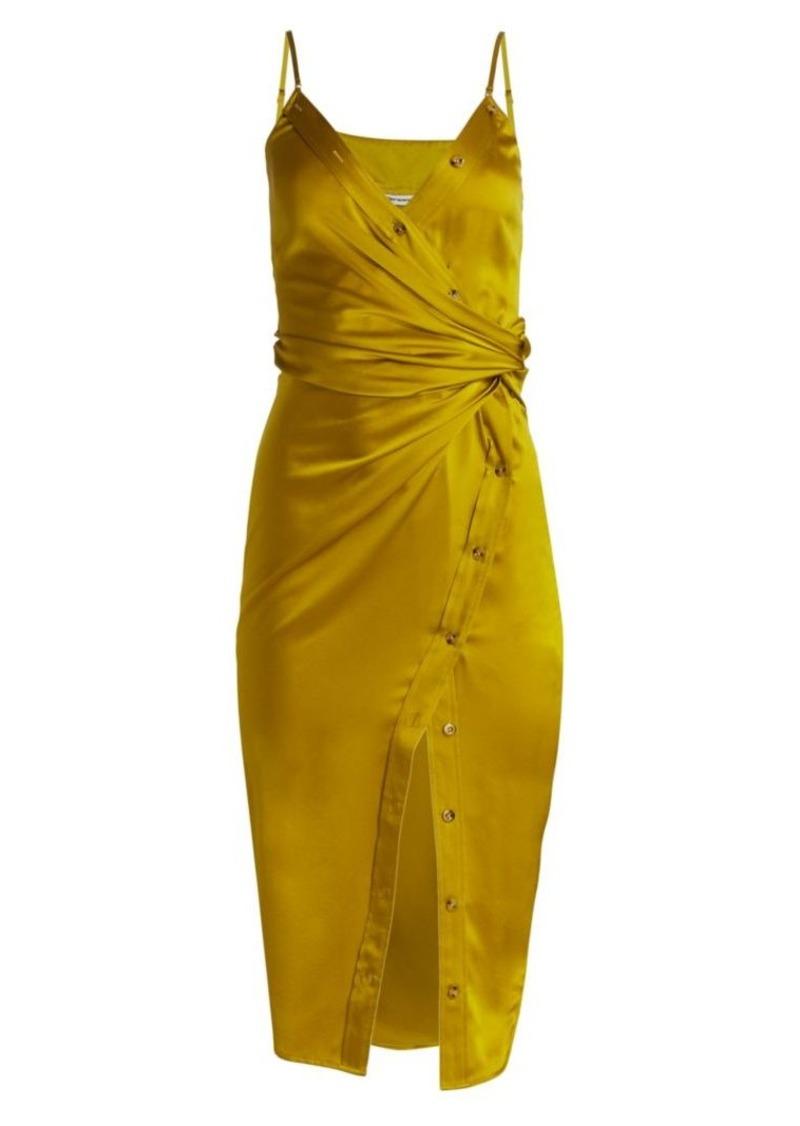 T by Alexander Wang Cami Satin Faux Wrap Dress
