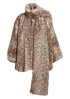 T by Alexander Wang Cheetah-Print Faux Fur Coat
