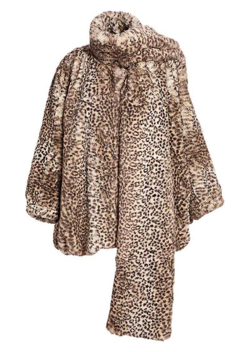 T by Alexander Wang Cheetah-Print Faux Fur Coat