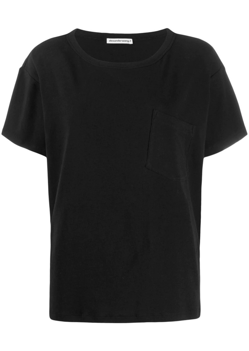 T by Alexander Wang chest-pocket short sleeve T-shirt