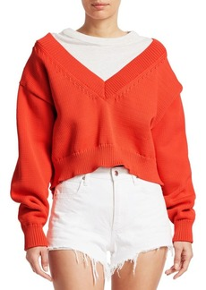 T by Alexander Wang Chunky Knit & Tee Combo