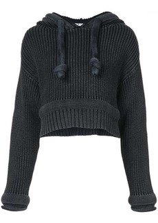 T by Alexander Wang Chunky Knit Hoodie sweater