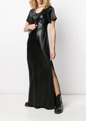T by Alexander Wang coated flared maxi dress