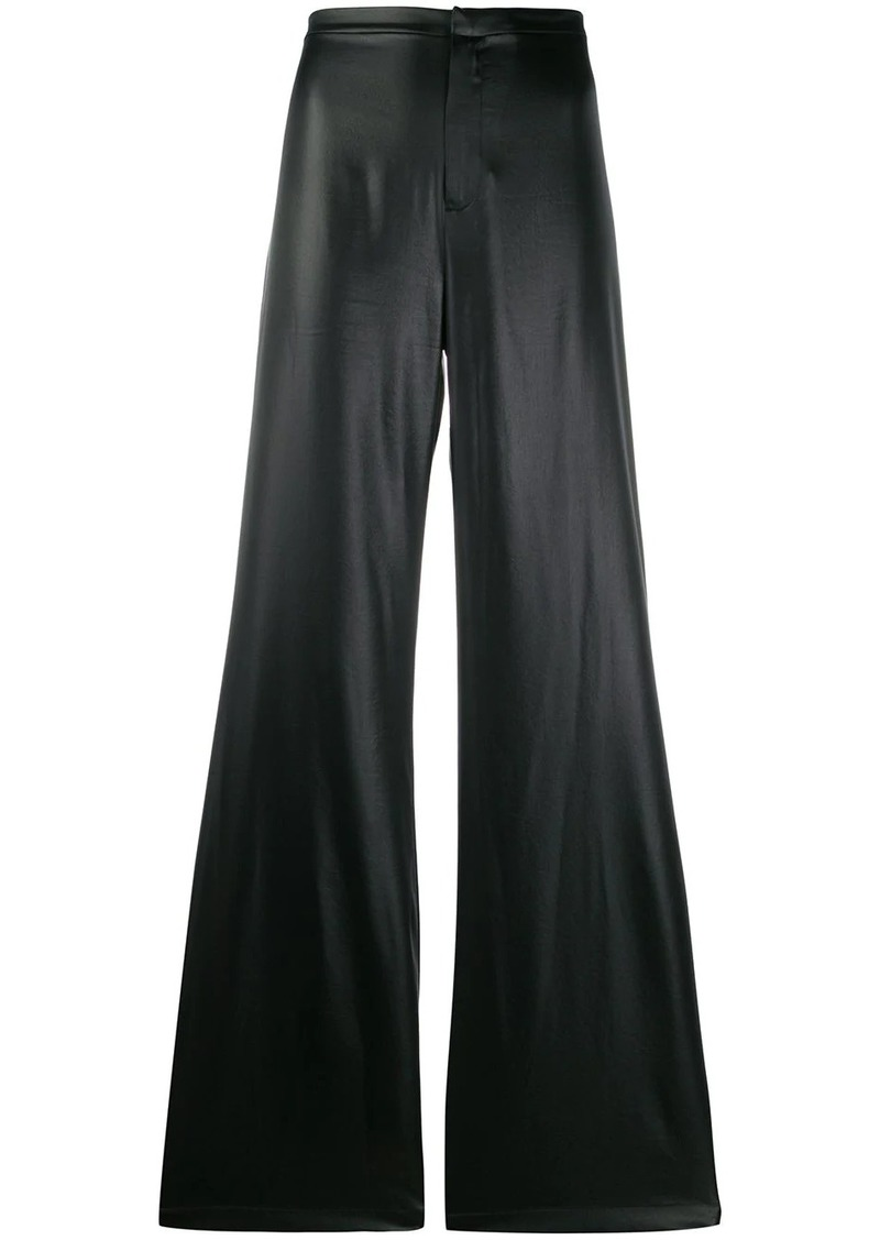 T by Alexander Wang coated flared trousers