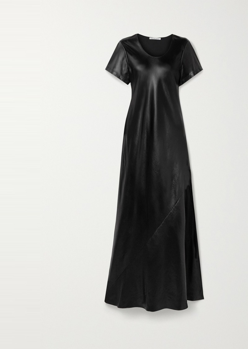 T by Alexander Wang Coated Twill Maxi Dress