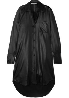 T by Alexander Wang Coated Twill Shirt Dress