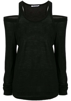 T by Alexander Wang cold shoulder knitted top