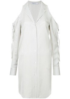 T by Alexander Wang cold shoulder striped shirt