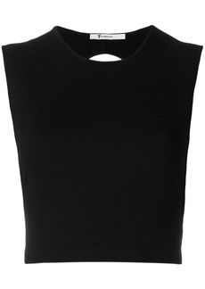 T by Alexander Wang compact ribbed cut-out vest