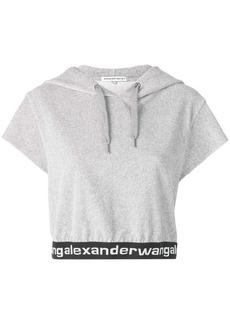 T by Alexander Wang short sleeved hoodie